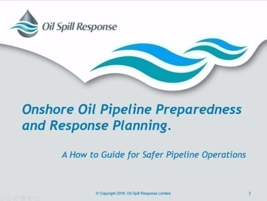 Recorded Webinar: Onshore Oil Pipeline Preparedness and Response